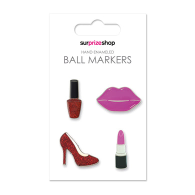 Surprizeshop Girlie Glam Ball Marker Set - Multi