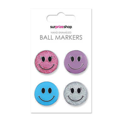 Surprizeshop Smiley Ball Marker Set - Multi
