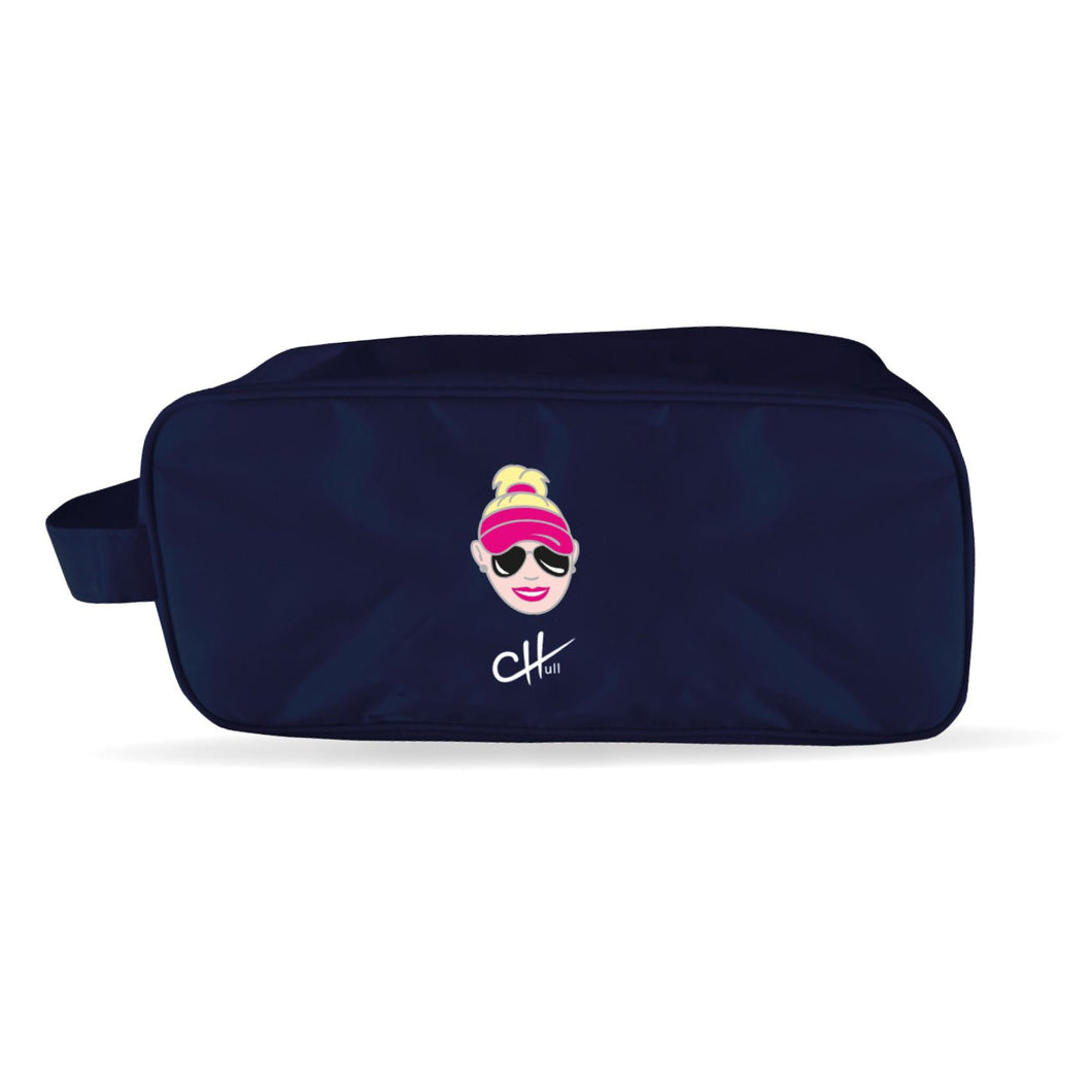 Surprizeshop Charley Hull 'Cartoon Charley' Shoe Bag - Navy