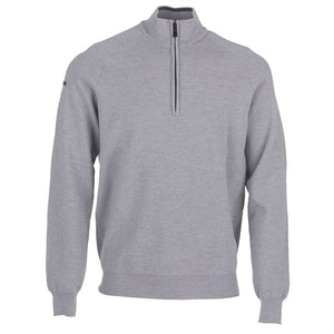 Galvin Green Charles Sweater - Light Grey Melange