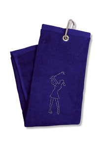 Surprizeshop Crystal Lady Golfer Towel - Navy