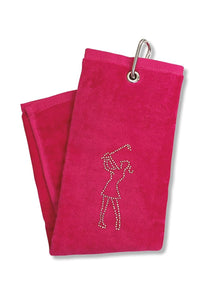 Surprizeshop Crystal Lady Golfer Towel - Pink