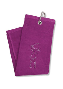 Surprizeshop Crystal Lady Golfer Towel - Purple