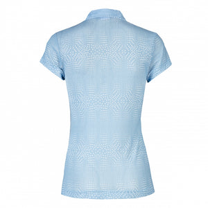 Daily Sports Aggie Mesh Cap Sleeve Polo - Mermaid
