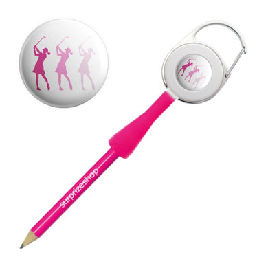 Surprizeshop Lady Golfer Retractable Pencil - Pink