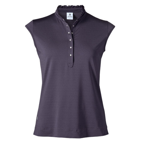 Daily Sports Sibbie Cap Sleeved Polo - Aubergine