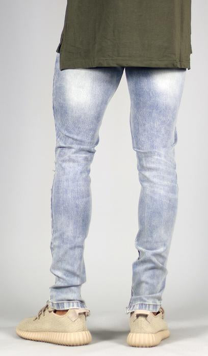 LIGHT BLUE GAO ZIPPER JEAN