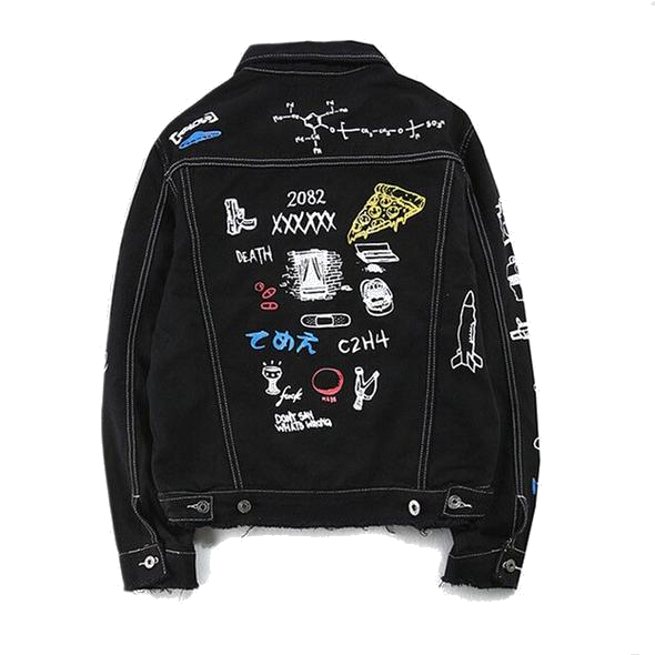 LOST FOREVER BLACK DENIM JACKET