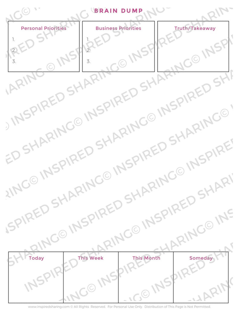image regarding Brain Dump Worksheet identified as Mind Dump Worksheet