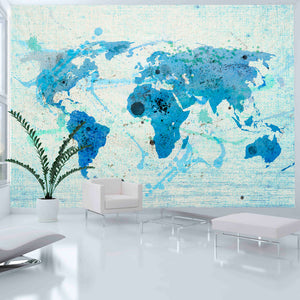 Fototapete - Cruising and sailing - The World map - WELTKARTEN24
