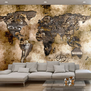 Fototapete - Old world map - WELTKARTEN24