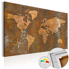Laden Sie das Bild in den Galerie-Viewer, Pinnwand - Weltkarte Rusty World - WELTKARTEN24