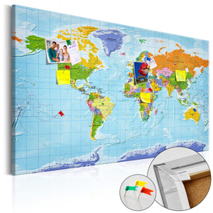 Pinnwand - Weltkarte World Map: Countries Flags - WELTKARTEN24