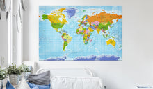 Laden Sie das Bild in den Galerie-Viewer, Pinnwand - Weltkarte World Map: Countries Flags - WELTKARTEN24