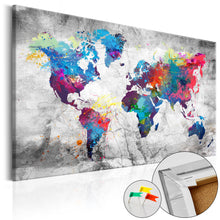 Laden Sie das Bild in den Galerie-Viewer, Pinnwand - Weltkarte World Map: Grey Style - WELTKARTEN24