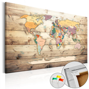 Pinnwand - Weltkarte The World at Your Fingertips - WELTKARTEN24