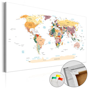 Pinnwand - Weltkarte World Map - WELTKARTEN24