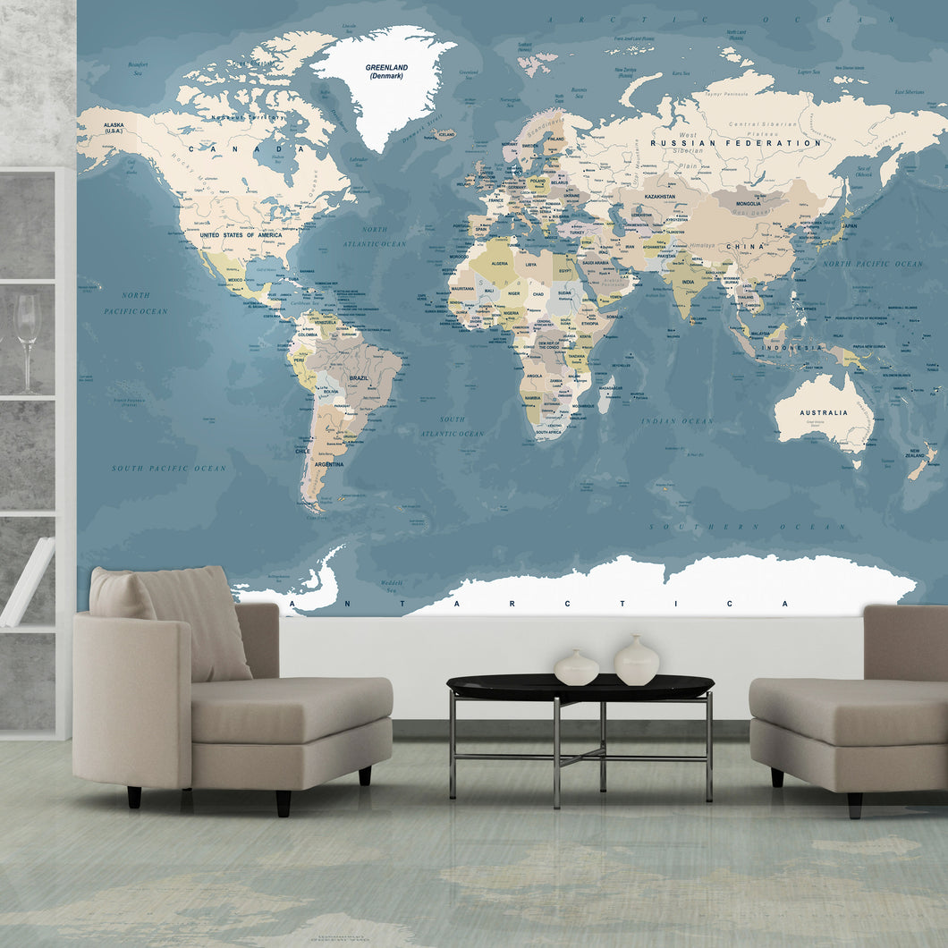 Fototapete - Vintage World Map - WELTKARTEN24