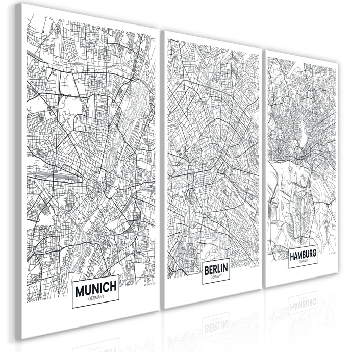 Wandbild - German Metropolises (Collection)