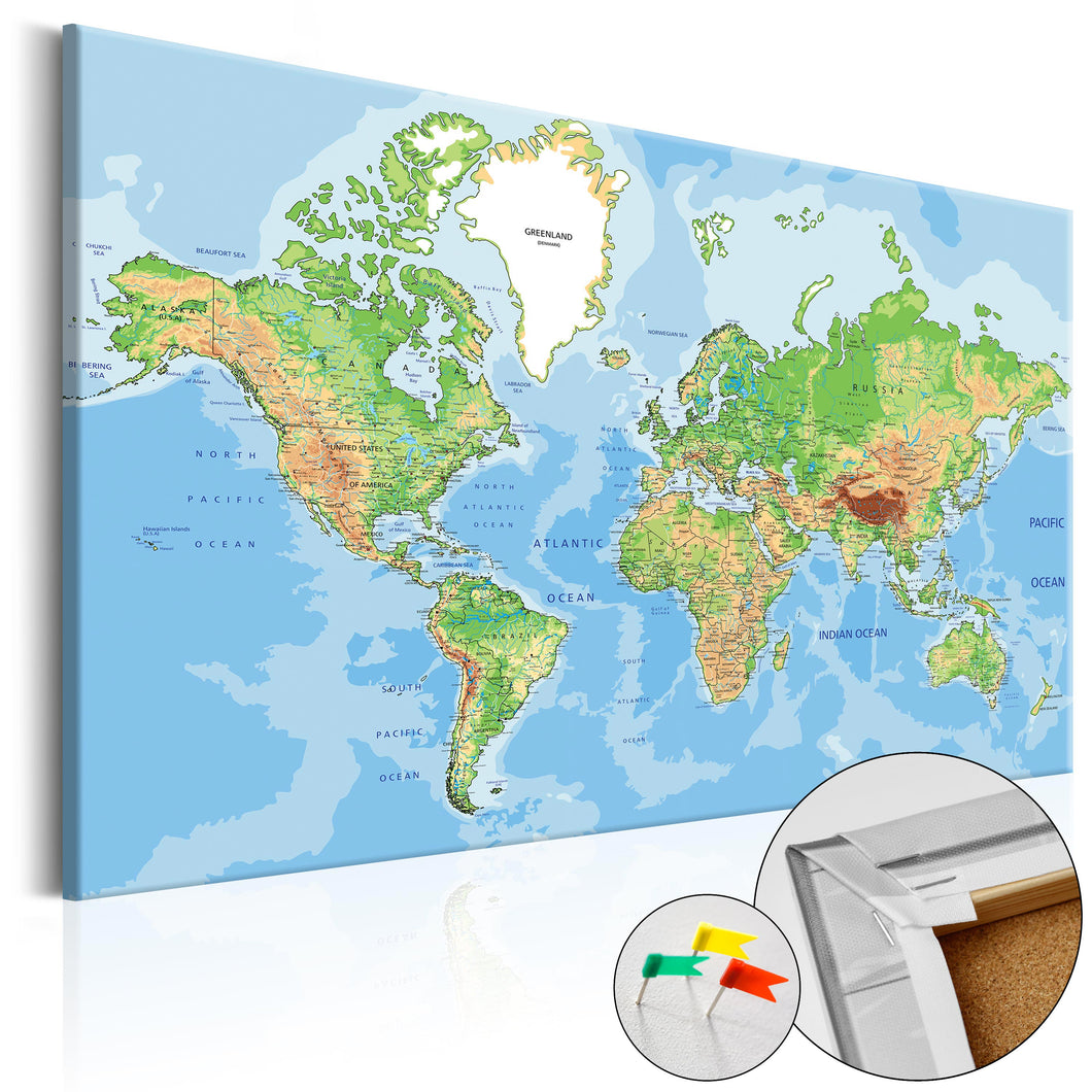 Pinnwand - Weltkarte World Geography - WELTKARTEN24