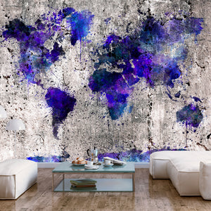 Fototapete - World Map: Ink Blots - WELTKARTEN24