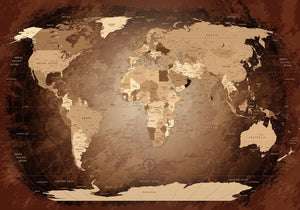 Premium Poster - World Map Antique - WELTKARTEN24