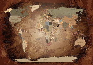 Premium Poster - World Map Intensive - WELTKARTEN24