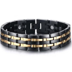 Men's Magnetic Stainless Steel Bracelet  - Crafted In Time