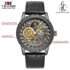 Crafted In Time black 1 Crafted Fashion Collection Jaga Automatic Watch