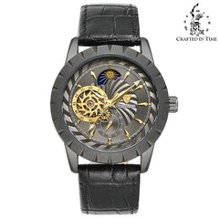 Crafted In Time black 2 Crafted Fashion Collection Jaga Automatic Watch