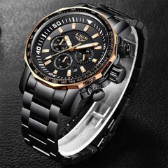 REGIMENT Men's Quartz Watch Gold black - Crafted In Time