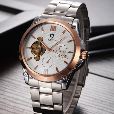 CENTIVIAL Tourbillon Men's Watch rose gold white - Crafted In Time