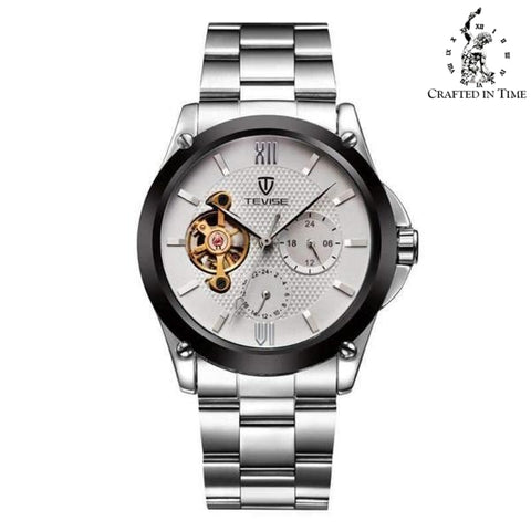 Crafted In Time silver Crafted Fashion Collection Men's Automatic Tourbillon Watch