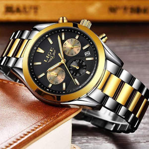 CUSTOM SHADES Quartz Men's Watch Steel Gold Black - Crafted In Time
