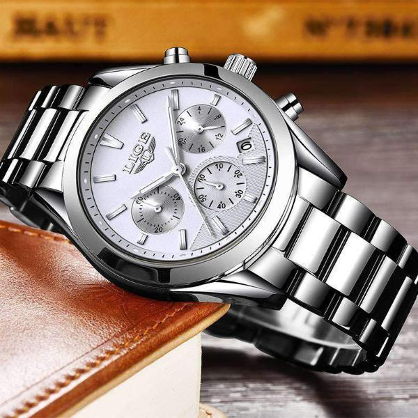 CUSTOM SHADES Quartz Men's Watch Steel Silver White - Crafted In Time