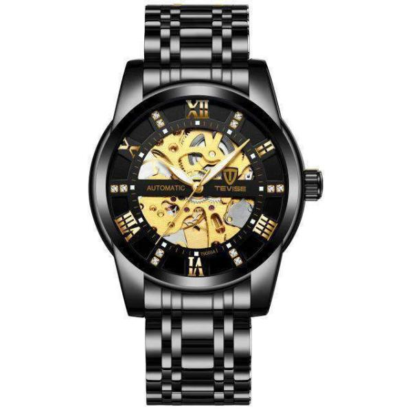 GALANT Fashion Men's Watch TEVISE black - Crafted In Time