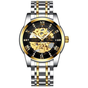 GALANT Fashion Men's Watch TEVISE gold black - Crafted In Time
