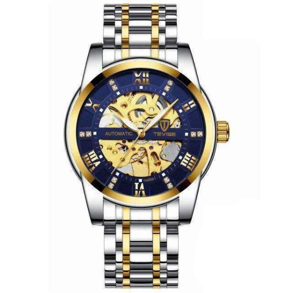 GALANT Fashion Men's Watch TEVISE gold blue - Crafted In Time