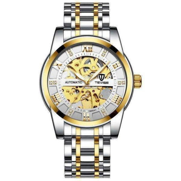 GALANT Fashion Men's Watch TEVISE gold white - Crafted In Time