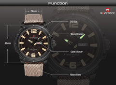 NAVIFORCE Men's Casual Fashion Sports Watch