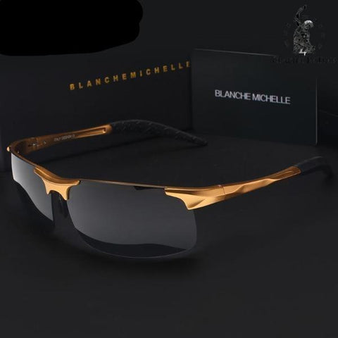 Men's Driver Polarised Sunglasses gold black - Crafted In Time