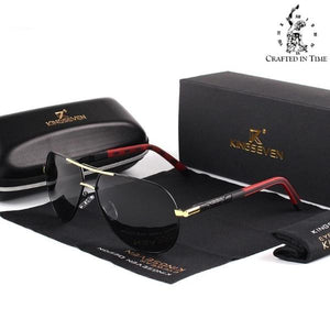 Men's Aviator Polarised Sunglasses  - Crafted In Time