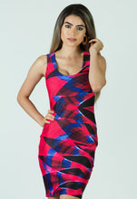 "Load image into Gallery viewer, 88 Lights ""Light Painting"" Short Bodycon Dress"