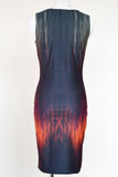 Car Head and Tail Lights on a Rainy Street Short Bodycon Dress