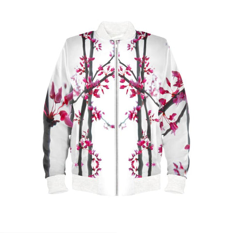 Cherry Tree Blossoms Women's bomber Jacket