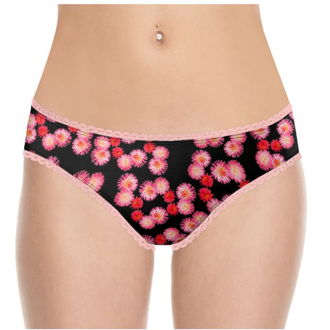 Custom Underwear Pink Flowers 2