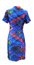 "Load image into Gallery viewer, Embarcadero Lights ""Light Painting""  Qipao/Cheongsam Style Short Dress"