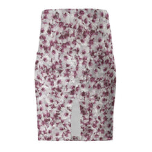Load image into Gallery viewer, Purple and White Flower Pencil Skirt