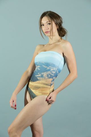Tehachapi Pass Strapless Swimsuit