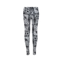 Load image into Gallery viewer, Black and White Light Painting Leggings
